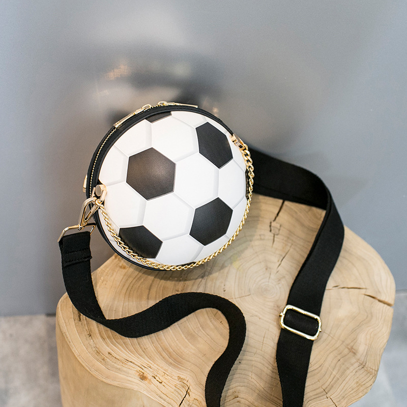 Bags for women lady chain messenger bag football shape suitable for party fashion creative funny bolsa