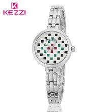 2016 KW-1153 KEZZI Marca QuartzWatch Moda Pulsera de Las Mujeres Reloj Resistente Al Agua Reloj de Las Mujeres Vestido Reloj Relogio Feminino KZ21