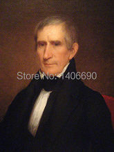 TOP art work -Christmas present # USA America President  William Henry Harrison -36″ inch -handpaint oil painting on canvas-