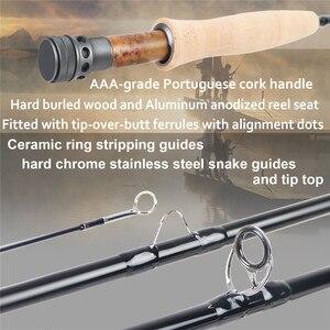 Image 4 - Maximumcatch NANO nimfa 10FT/11FT 2/3/4wt Fly Fishing Rod IM12 grafitowy z włókna węglowego szybka akcja haczyk na muchę z Cordura rury