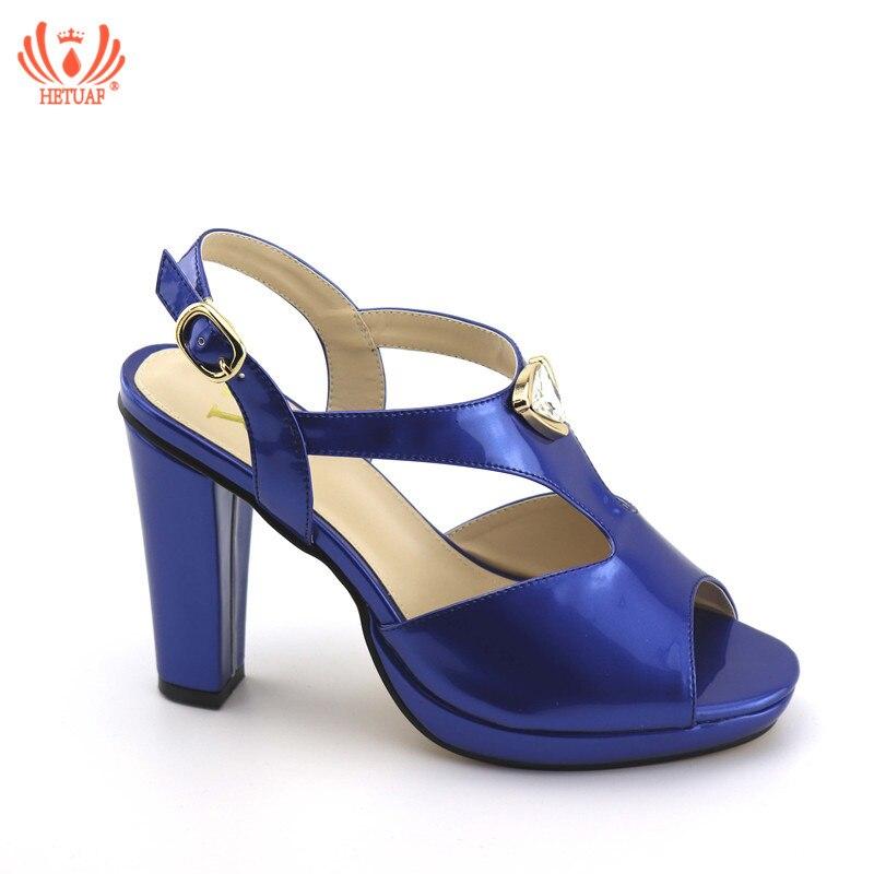 466f11a56174ed6 Новинка 2019, королевские синие Итальянские женские пикантные туфли-лодочки  на высоком каблуке, свадебные женские туфли-лодочки со стразами, .