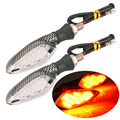 2pcs 16LED Motorcycle Turn Signal Amber Light Carbon ABS Indicator Lamp New Hot Selling
