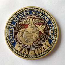 United States Marine Corps-USMC Devil Dogs Challenge Coin, Bronze coins, Souvenir arts, 1pcs, free shipping the united states marine corps workout rev