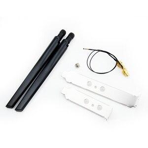 Image 4 - Kit carte Wifi sans fil, 9260ngw, 1730 mb/s, avec antenne à queue de cochon, adaptateur pour ordinateur de bureau, pour NGFF/M.2, 7265NGW 8265NGW 9260ac