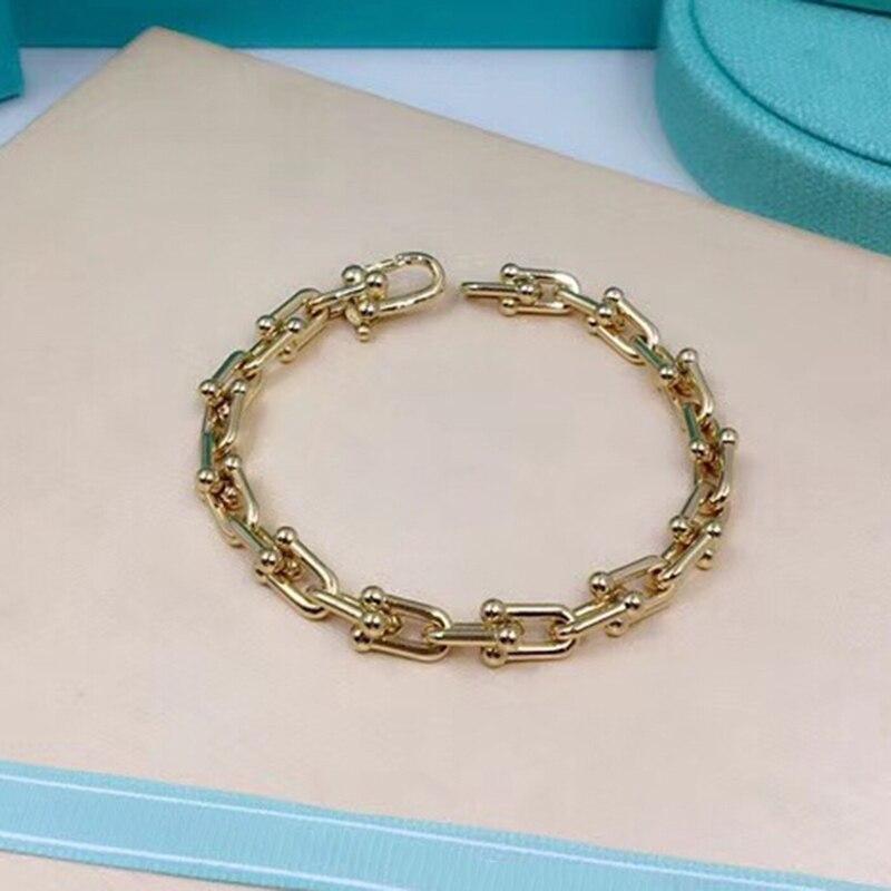 Haute qualité marque Bracelet femmes bijoux mode titane acier bracelet 3 couleurs femmes Bracelet pulseira feminina chaud