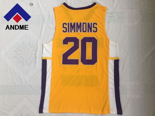 buy popular d8902 5806a Men Cheap Throwback Basketball Jerseys #20 Ben Simmons Jersey Montverde  Academy Eagles Jerseys Yellow Stitched Retro-in Basketball Jerseys from  Sports ...