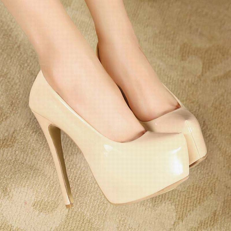 Women Shoes Woman Pumps Sexy Thin High Heels Platform Wedding Ladies Club Fashion Party Valentine Shoes Big Size Zapatos Mujer new sexy thin high heels shoes women pumps 2018 spring round toe platform single shoes women wedding party big size 34 45 27 5cm