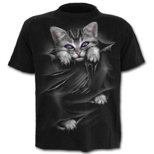 New 3D cat Print Casual Harajuku Men Women T-Shirt Round Summer Short sleeve Funny t shirt Male shirt Top Tee Hipster Drop Ship water drop 3d print t shirt