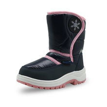 ULKNN 2018 Boots for winter girls shoes pink fashion  childrens non-slip warm snow boots cotton 22-33