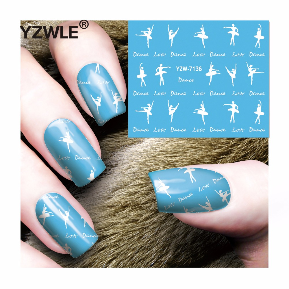 85f57d2d7c003 YZWLE 1 hoja DIY calcomanías clavos arte agua transferencia impresión  pegatinas accesorios para manicura salón YZW-7136