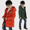 2016 autumn spring Cotton-padded Warm Child Wadded Jacket  Kids Thickening Down Brand Big Boy M Design Coat Children's clothing