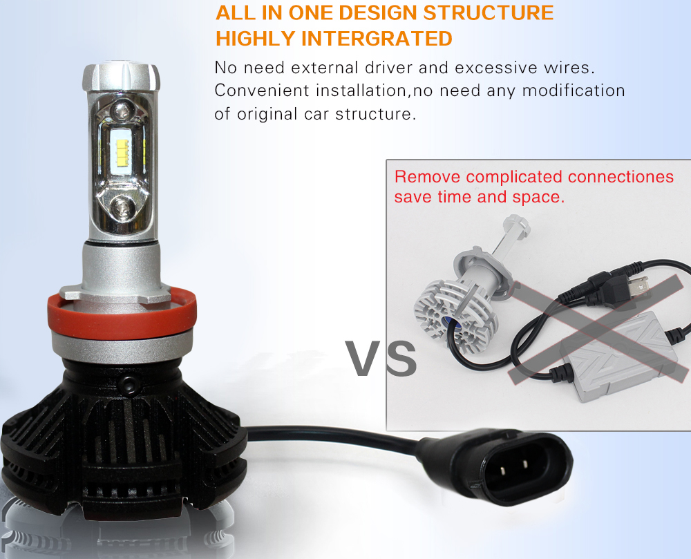 MyHung X3 H7 H11 9005 9006 H10 H11 Λαμπτήρας - Φώτα αυτοκινήτων - Φωτογραφία 4