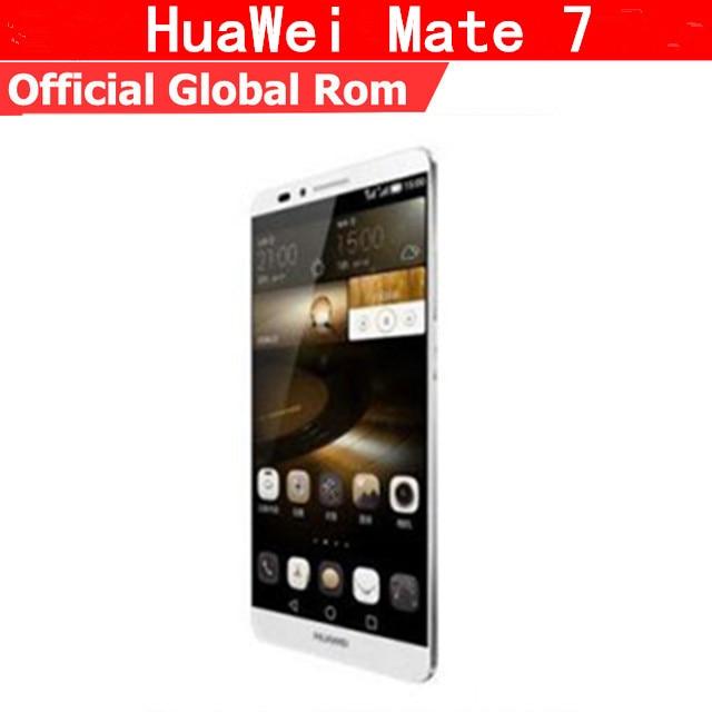 """Global rom Huawei Ascend Mate 7 4G LTE смартфон Kirin 925 Android 4,4 6 """"FHD 1920×1080 3 ГБ Оперативная память 32 ГБ Встроенная память сканер отпечатков пальцев NFC"""