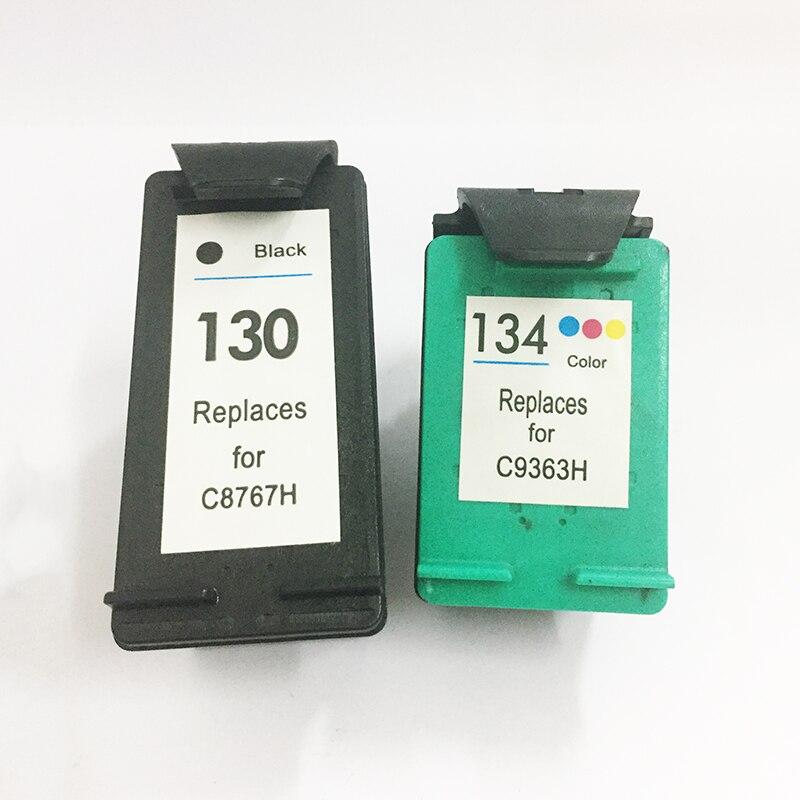 Vilaxh 130 134 Substituição do Cartucho de Tinta Compatível para HP 130 134 para Hp Deskjet 6543 5743 6623 5743 6843 6983 7313 7413 de impressora