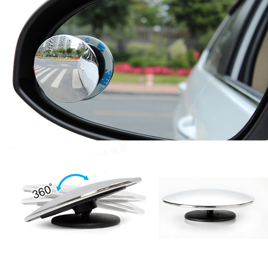 Claro Retrovisor del coche Retrovisor 360 Rotaci/ón de seguridad Gran angular Punto ciego Espejo de estacionamiento Redondo Convexo Auto Exterior Accesorios