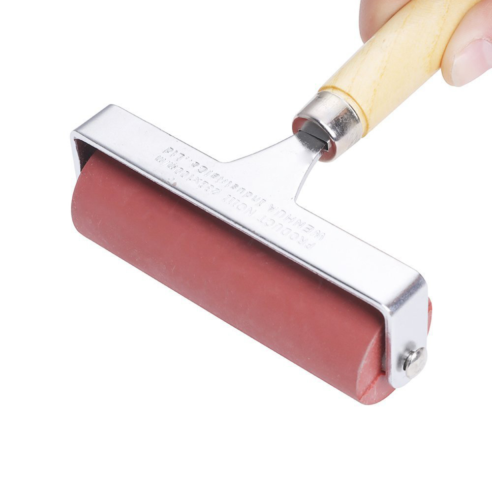 MEEDEN Hard Rubber Brayer Roller 4-Inch for Printmaking Craft Projects Tools for School Art Supplies