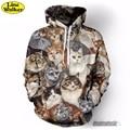 \ Line Walker \ 2016 Domesticar Gato Impressão 3D Animal Unisex Camisola Hoodies Men Jaqueta Com Capuz Homber Tarcksuit