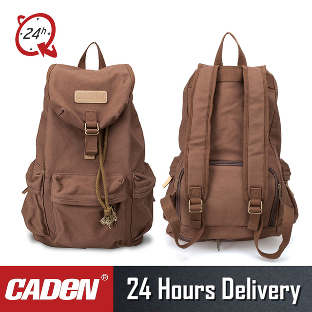 CADeN F5 DSLR Camera Backpack Canvas Lens Camera Photo Video Digital Bags  Pack Waterproof Rain Cover 7cf624d2bf114