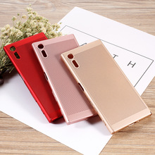 Dulcii coque For Sony Xperia XZ Hard Cases Hollow Mesh Heat Dissipation PC Protector Cover for XZs / - 5.2 inch