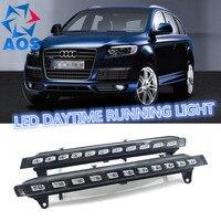 2PCs/set Auto LED DRL set Daylight Car Daytime Running lights For Audi Q7 2005 2006 2007 2008 2009 2010