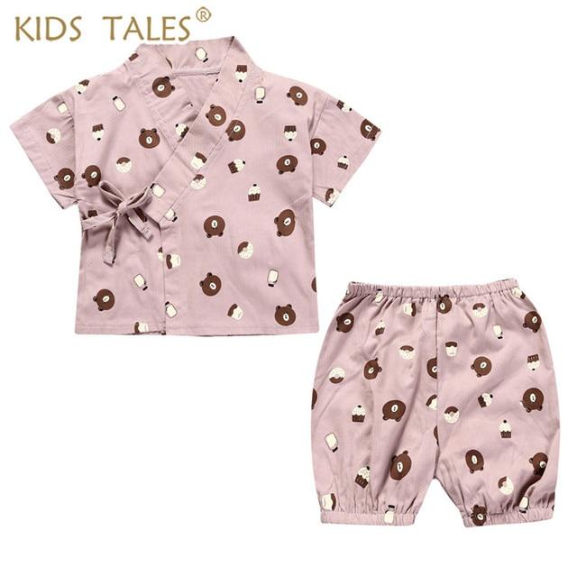 fff82faa9 Children s Wear Kimono Pajamas Baby Girl Clothes Children Suit Kids ...