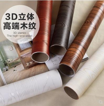 Waterproof PVC self - adhesive wallpaper 3d simulation wood counter furniture renovation stickers-170