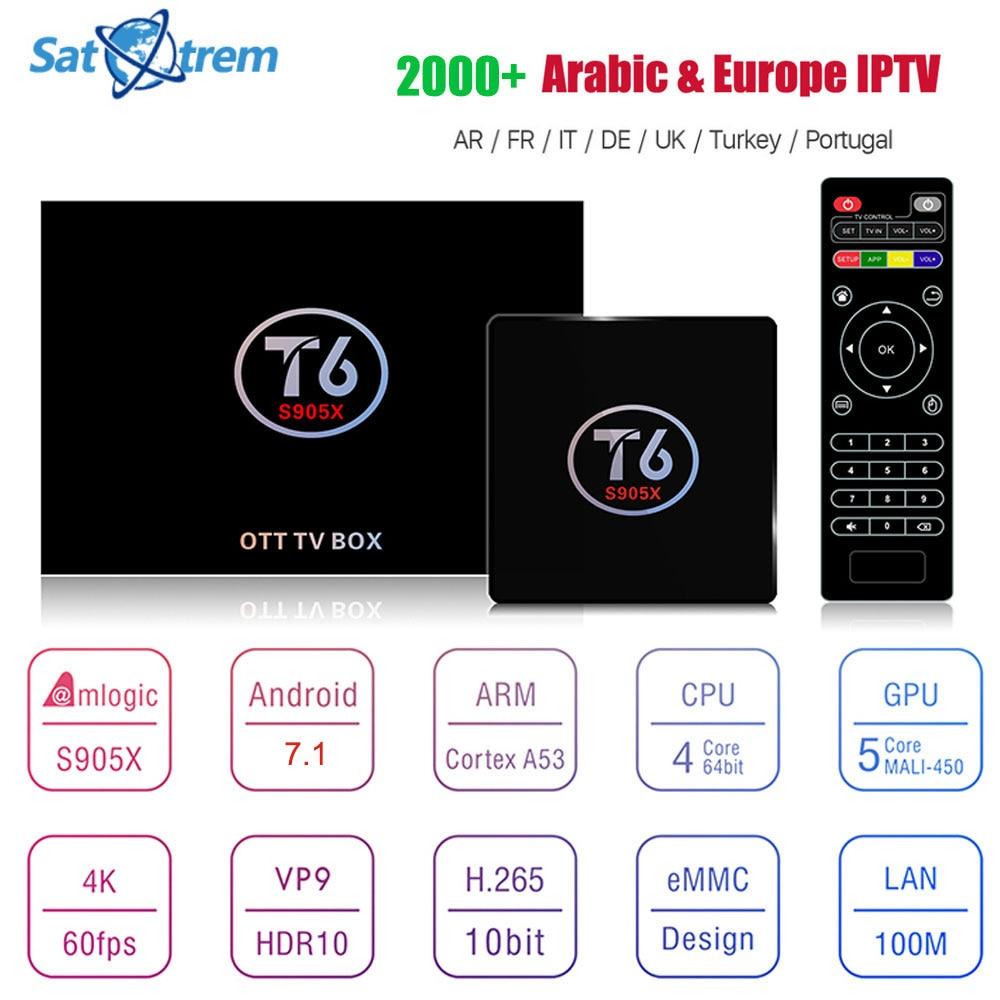 Satxtrem Android 7.1 TV Box S905x Kodi Media Player Mit 1 Jahr...