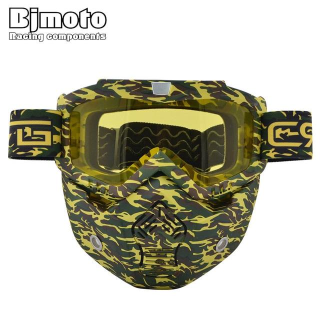 89342f1653222 BJMOTO de Skate Ski Motocicleta Motocross Óculos De Proteção Óculos À Prova  de Vento off Road