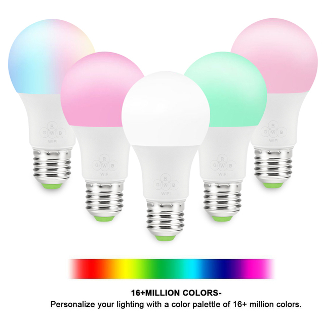 Smart WiFi Light Bulbs (3) Works 1