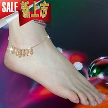 Austria crystal Anklets Ankle Chain female foot ring holiday gift 14 carat gold jewelry genuine foot chain sandals