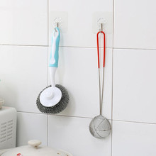 no marks Hooks 6pcs Strong Transparent Suction Cup Sucker Wall hooks for hanging Kitchen Bathroom 2018 Dropshipping