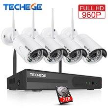 Techege 4CH CCTV System Wireless 960P NVR 4PCS 1 3MP IR Outdoor P2P Wifi IP CCTV