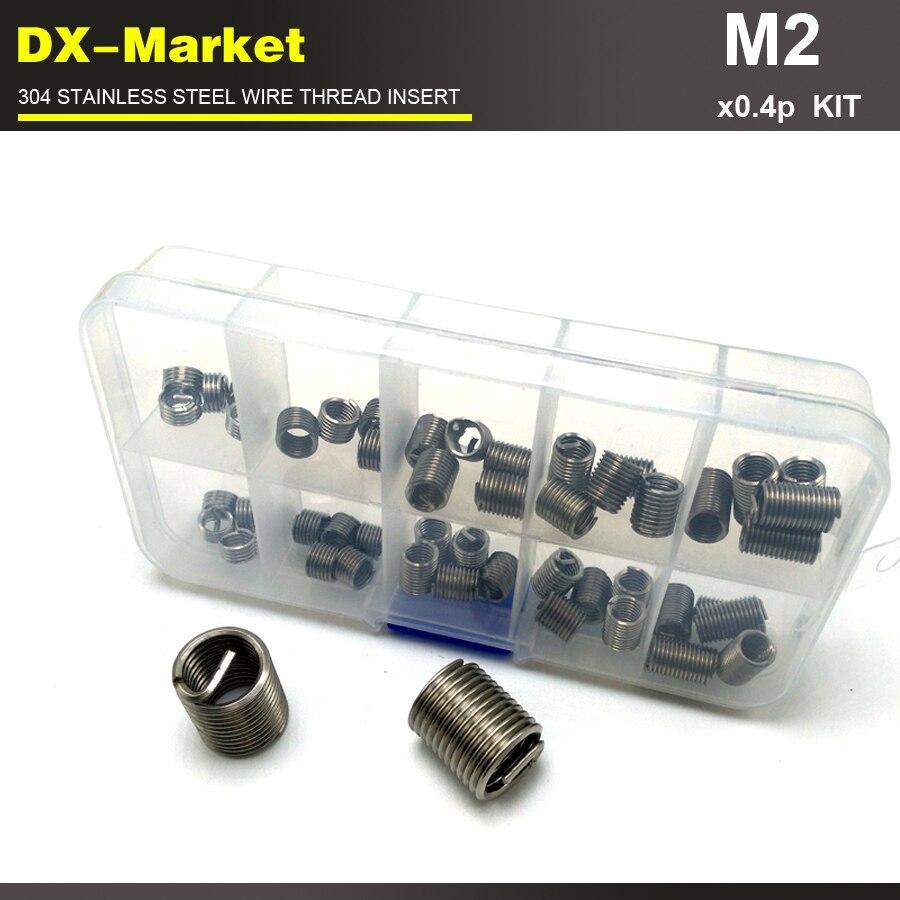 ₩m2*0.4P , 100pcs , 5 lengths each 20pcs sus304 wire thread inserts ...