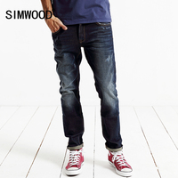 SIMWOOOD 2016 New Arrival Autumn And Winter Men S Jeans Cotton Slim Free Shipping Male Casual