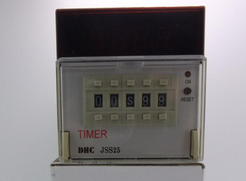 DHC Wenzhou Dahua JSS25 multi-standard time relay 2 groups delay or countdown hhs6a correct time countdown intelligence number show time relay bring power failure memory ac220v