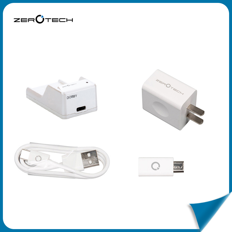 ФОТО Zerotech Dobby Selfie Pocket Drone Original Charger & USB Cable & Adapter & USB Adapter Dobby Spare Parts