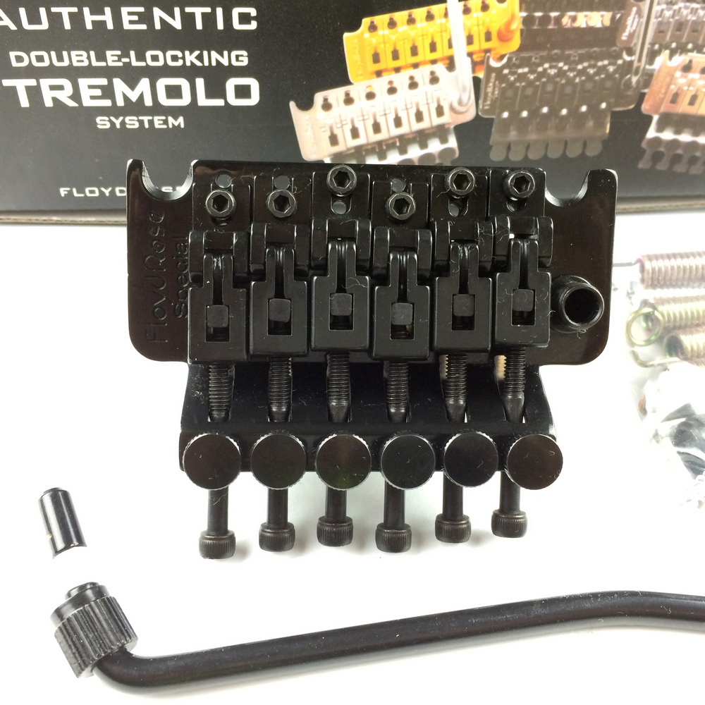 BRAS Floyd Rose Série Spéciale Guitare Électrique Verrouillage Trémolo Système Pont FRTS2000 Noir (Sans emballage)