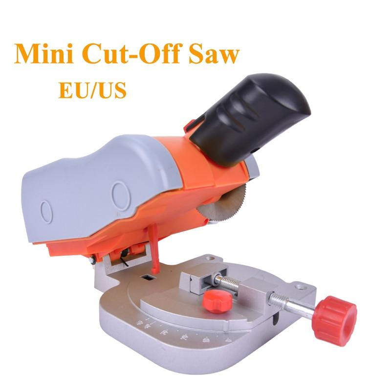Mini Bench Cut off Saw Steel Blade cutting Metal Wood Plastic Adjust Miter Gauge