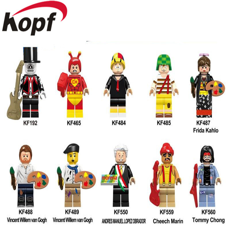 Single Sale Super Heroes Model Tommy Chong Cheech Marin Figures Building Blocks Bricks For Children Gift Best Toys KF6044 каталог rosanna