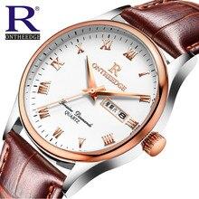 Relogio masculino original RON Nuevo reloj Hombres Reloj de Cuarzo de Cuero Relojes Hombres Reloj Militar Hombre Reloj Relojes Casuales masculinos 2310
