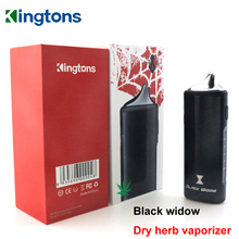 Original Kingtons Dry Herb Vaporizer Kit Black widow Electronic Cigarette Vape Pen 2200mAh Electronic E Cigar VS Pathfinder V2