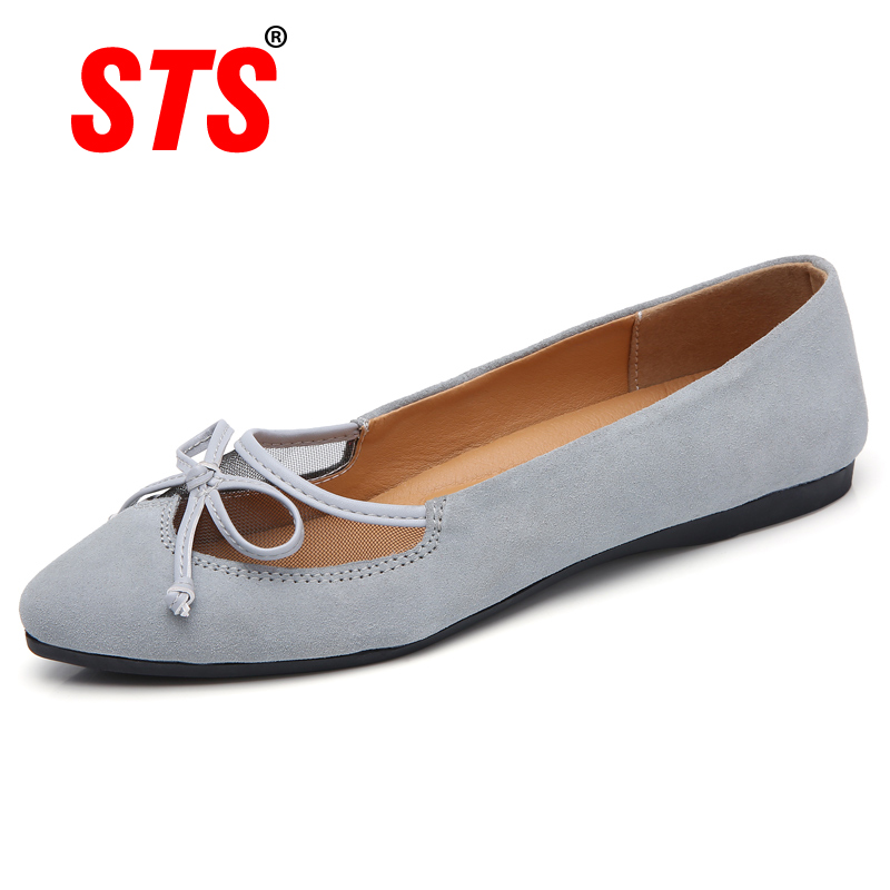 2019 Spring New Women Genuine   Leather   Loafers Ballet Flats Lady Zapatos Mujer Summer Shoes Ladies Oxfords Flats Mother Moccasins