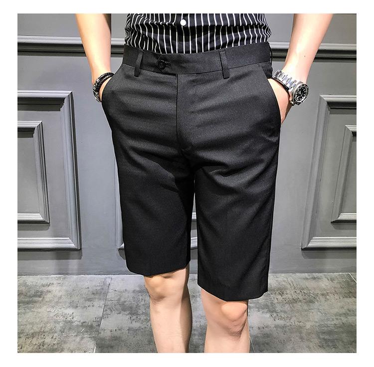 Compre Pantalones De Traje Corto Pantalón De Vestir Para Hombre Pantalón Rojo Ajustado Slim Royal Royal Pantalon Slim Homme 2019 Summer Shorts Calca
