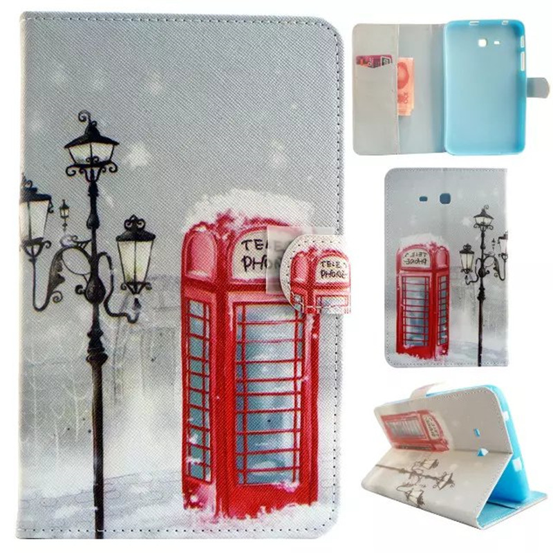 For Samsung Galaxy Tab A 8.0 T350 T351 SM-T355 case cover 8 inch tablet flower Paint PU Leather Stand Protective bags luxury tablet case cover for samsung galaxy tab a 8 0 t350 t355 sm t355 pu leather flip case wallet card stand cover with holder