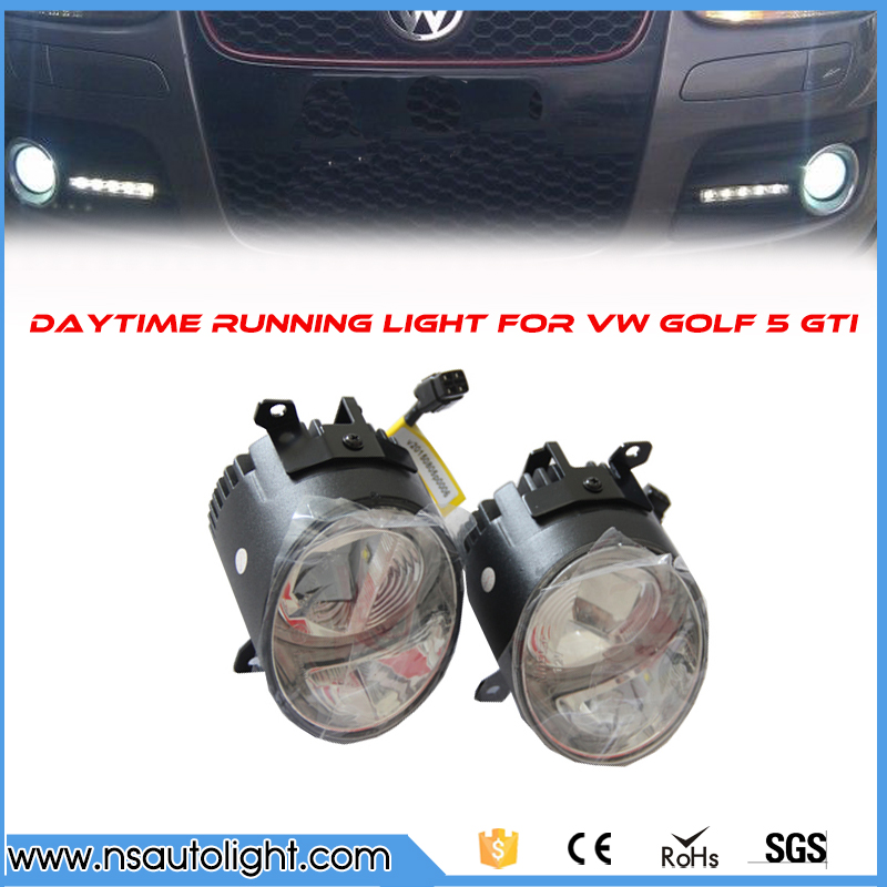 super white LED daytime running light for VW golf 5 GTI 06-09  drl fog  light position led turn signal light free shipping 2011 2013 vw golf6 daytime light free ship led vw golf6 fog light 2ps set vw golf 6