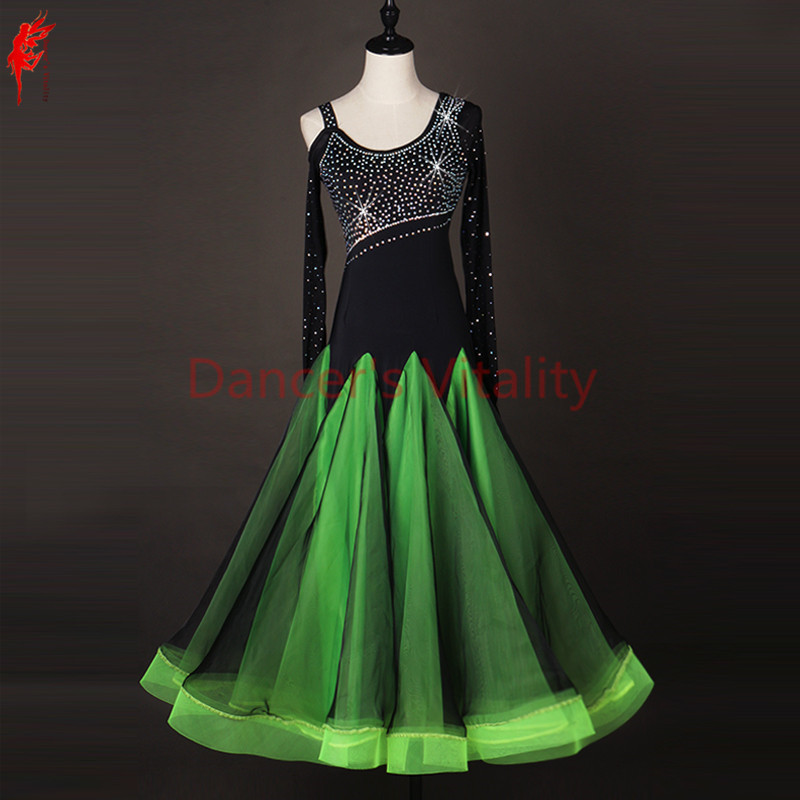 f4c8259e4 ballroom dance dress girls latin long sleeves clothing Salsa Rumba Samba Cha  Vestido belly dance Diamonds