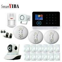 SmartYIBA Black Intelligent Wireless Wifi GMS SMS Call Home Burglar Intruder IOS Android App Security Alarm