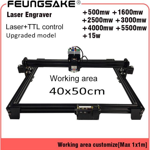 4050 15w laser machine PMW control TTL,cnc 7w laser carving machine 5500mw Laser, 2500mw Laser Engraving Machine, 4050 work Area