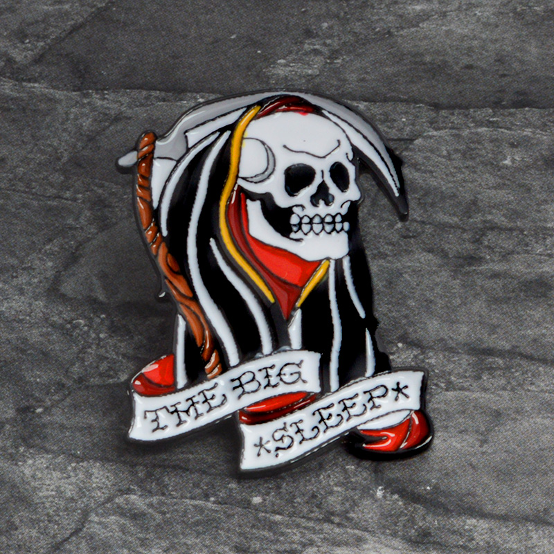 La-morte-Spille-Grim-reaper-Scuro-Brooch-Dello-Smalto-Spille-distintivo-In-Metallo-Punk-di-Scheletro