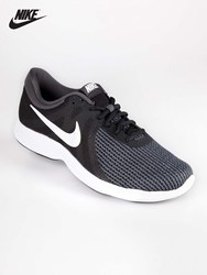 NIKE man's black shoelace length yarn ventilated shoes running shoes sports shoes